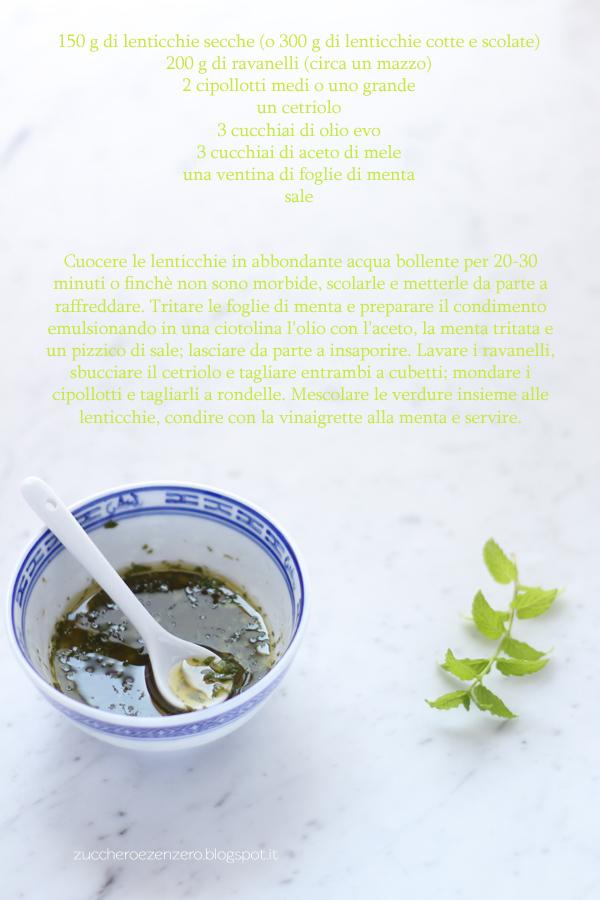 Insalata di lenticchie e ravanelli