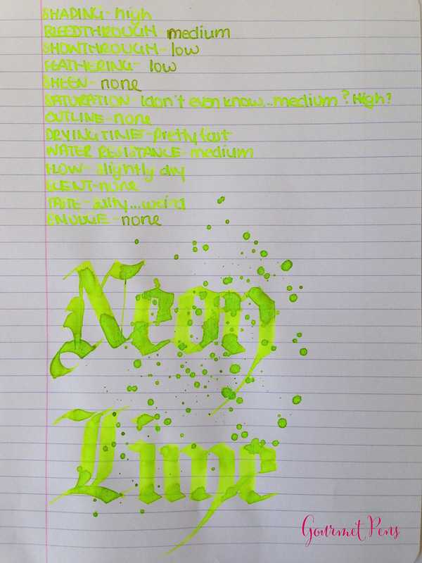 Ink Shot Review Lamy Neon Lime Ink @Fontoplum0 @Lamy (9)