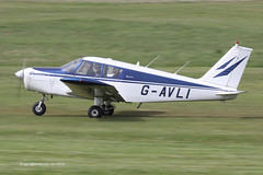G-AVLI - 1967 build Piper PA-28-140 Cherokee, departing on Runway 26L at Barton