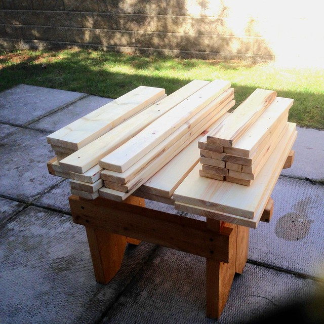 Cut boards for making the Ridiculously Simple shop stool