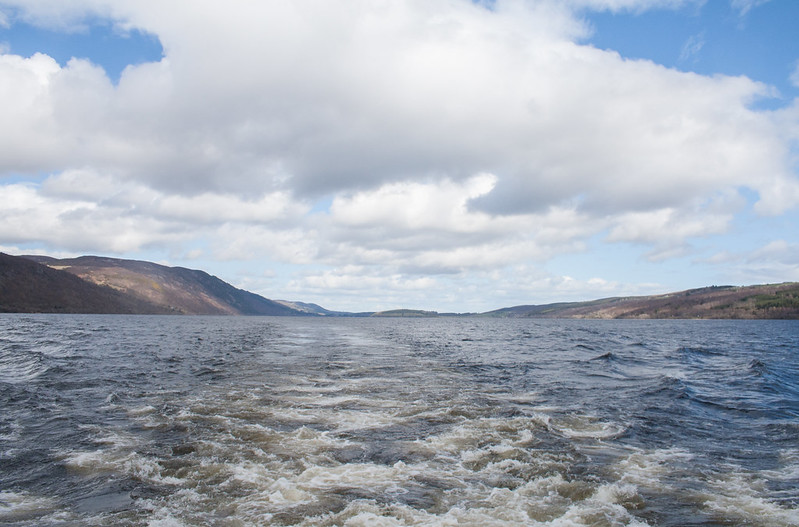 Loch Ness as seen from a tour boat