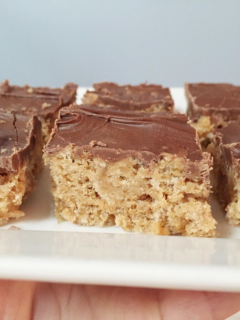 Recipe: Chocolate Peanut Butter Rice Krispie Bars