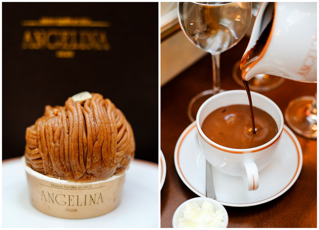 Angelina Tea Room (Singapore): Mont Blanc & Hot Chocolate
