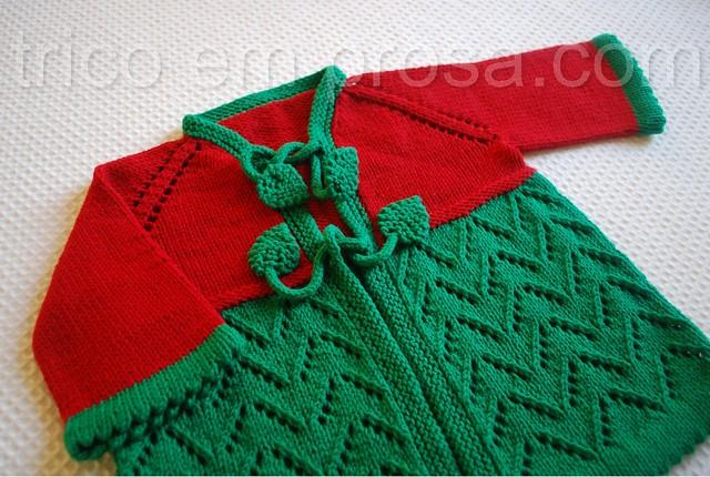 tricô em prosa - temporada de morangos - Cardigã Helena
