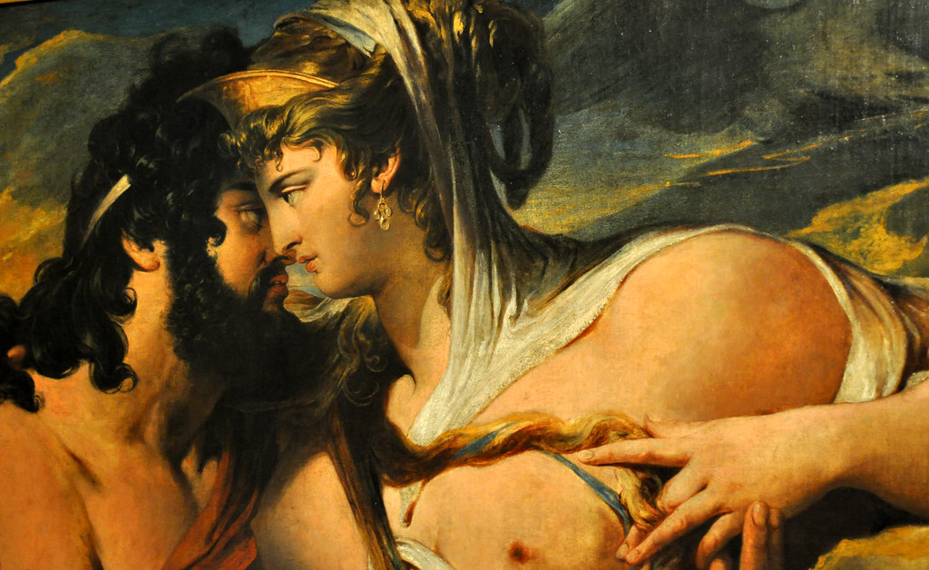 Jupiter beguiled by Juno on Mount Ida, by James Barry, oil ...
