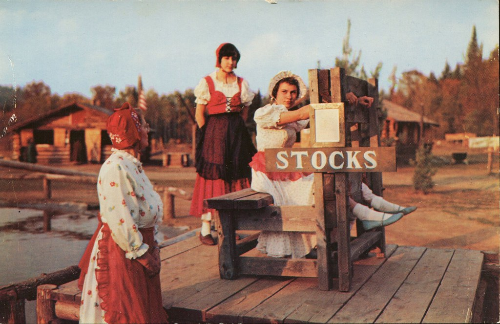 Replica Of Colonial Stocks At Frontier Town Ny Swellmap