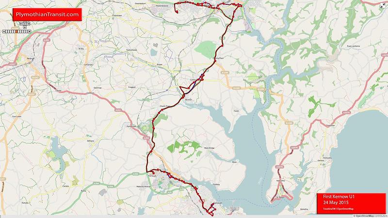 U1 Falmouth - Penryn - Tremough - Truro