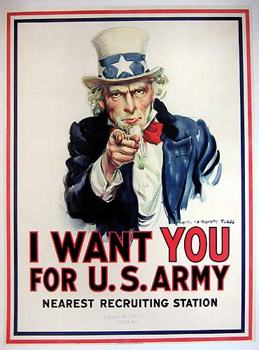 World War II Poster - I Want Your For U.S. Army
