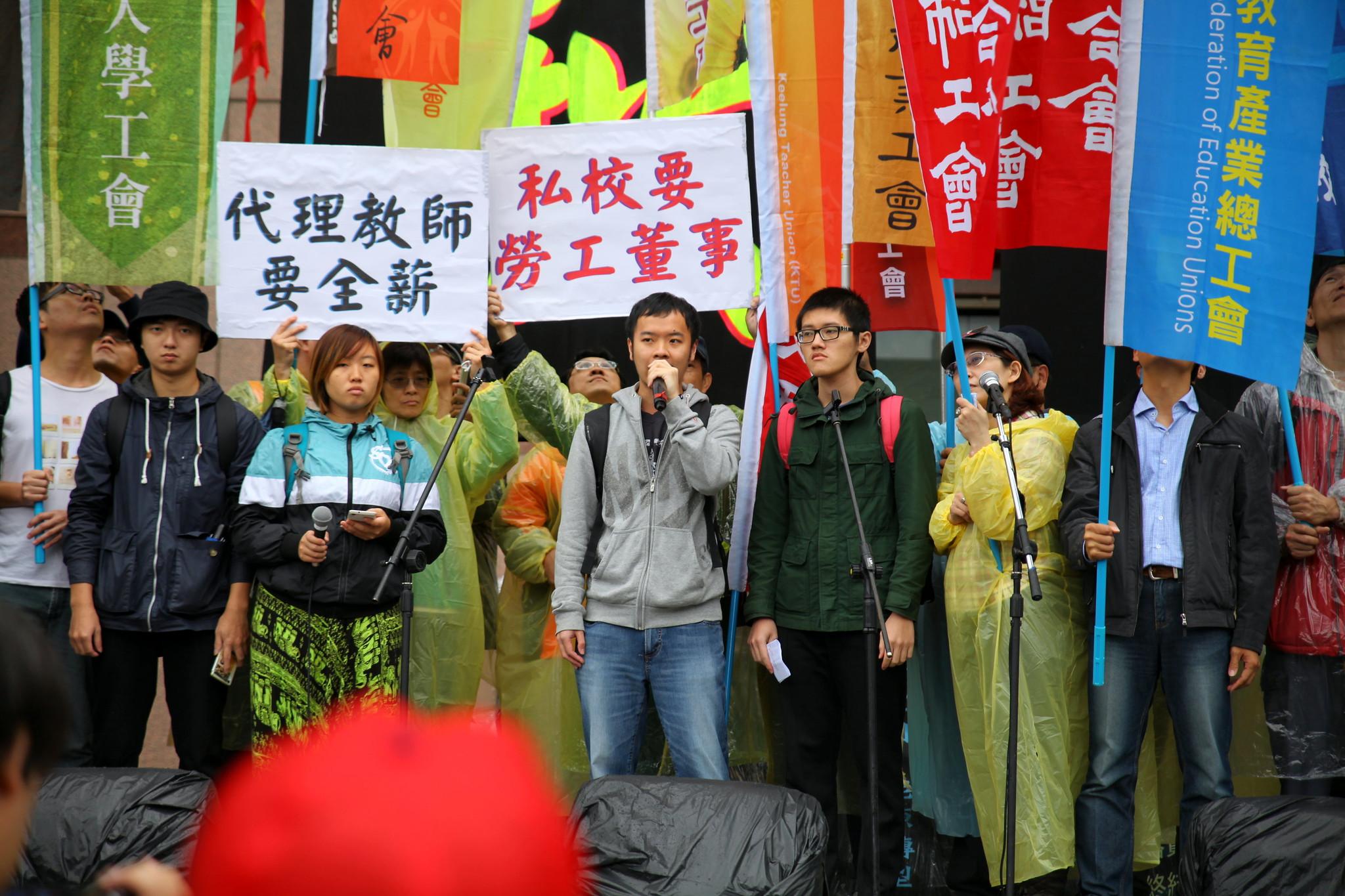 學生團體代表蘇子軒發言。(攝影:陳逸婷)