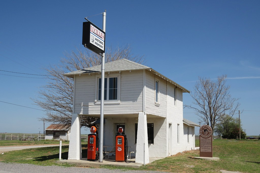 Lucille S Near Hydro Oklahoma The 1927 Gas Station