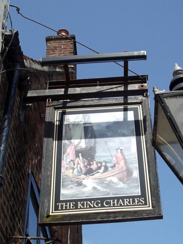 the king charles thames street poole pub sign at the. Black Bedroom Furniture Sets. Home Design Ideas