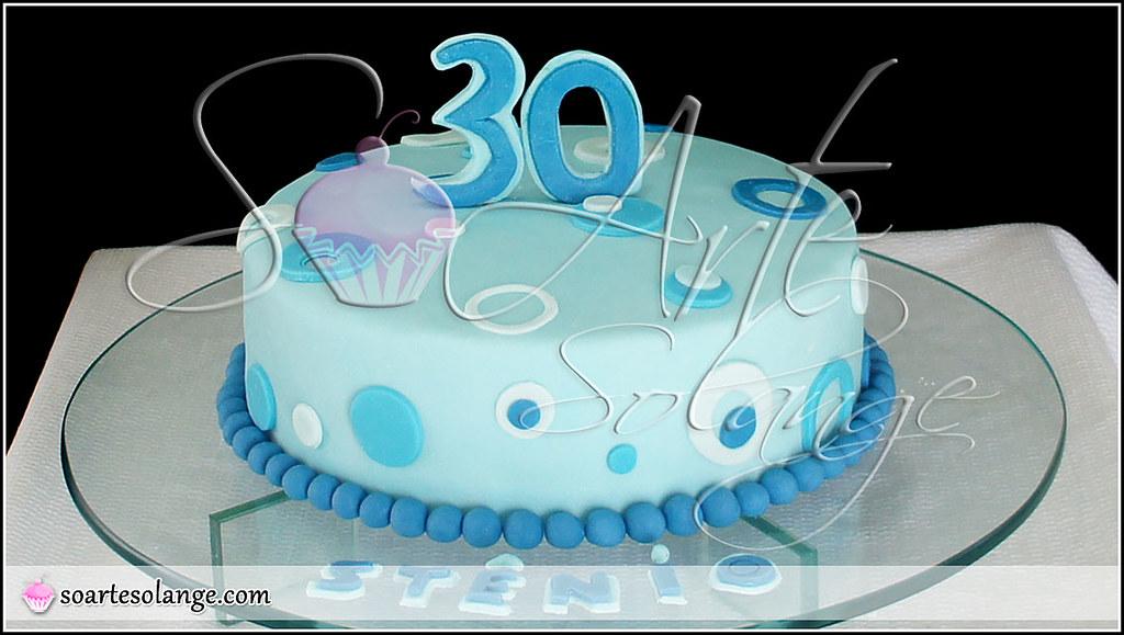 Cake Design Para Homem : Bolo Decorado   30 Anos soartesolange.com/ .. Contato ...