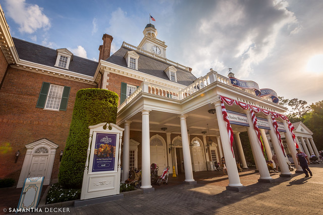 Late Afternoon Sun on the American Adventure
