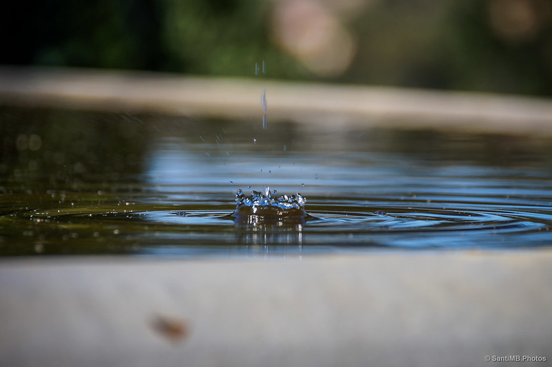 Colisión de una gota de agua