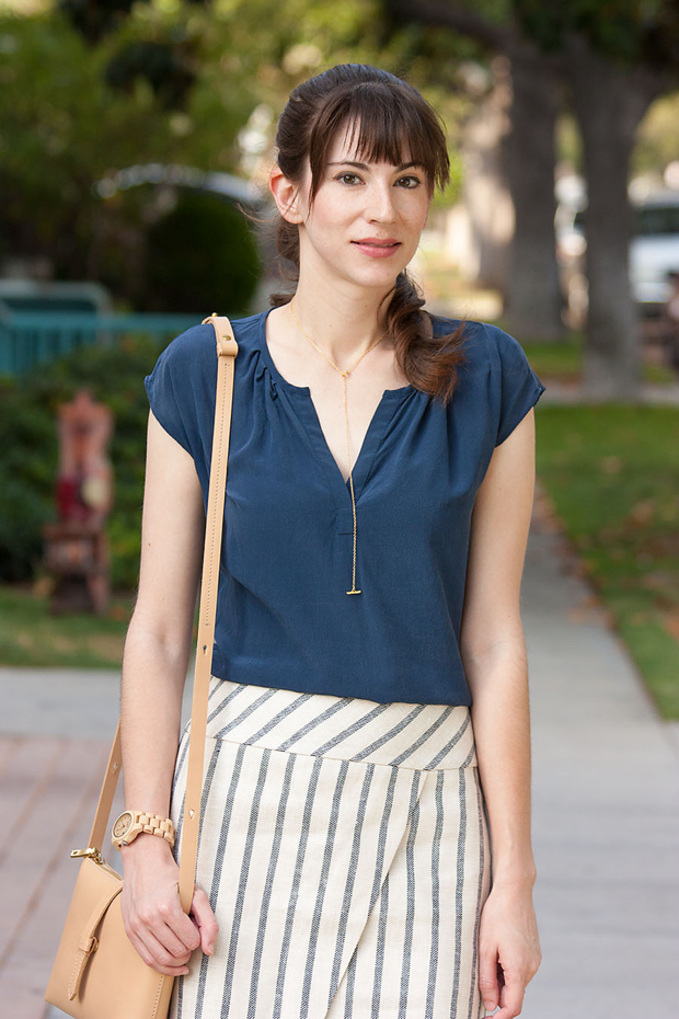 Jord Watch, J.Crew Crossbody Bag, Striped Skirt