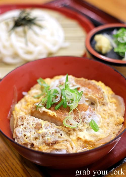 Katsudon pork cutlet on rice in Kanazawa, Japan