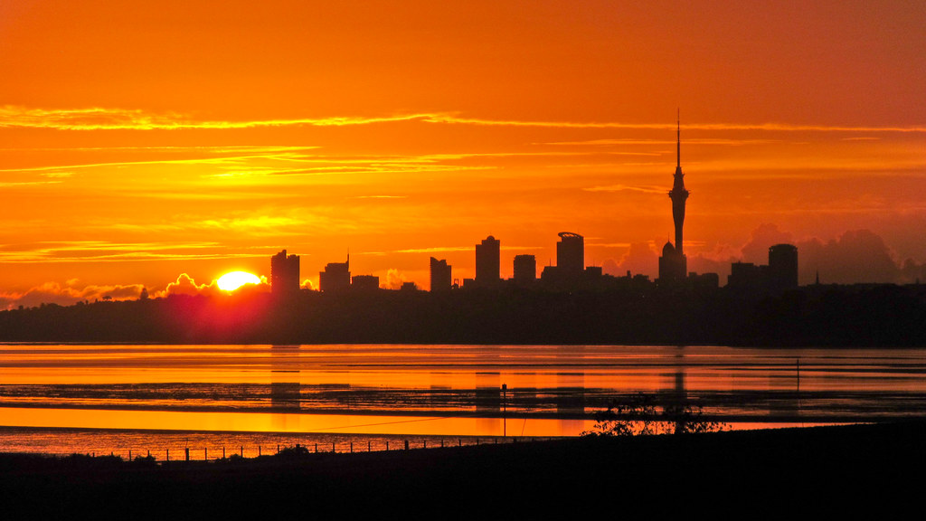 Sunrise Over Auckland Kathrin Amp Stefan Marks Flickr