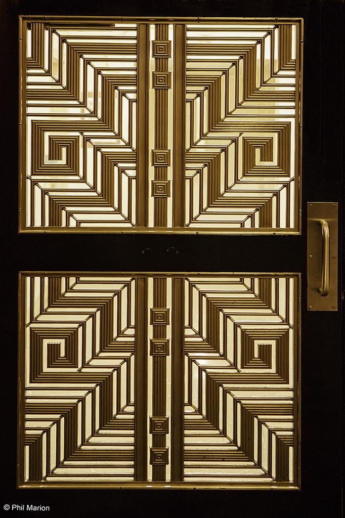 Art Deco Door In Radio City Music Hall Nyc Phil Marion