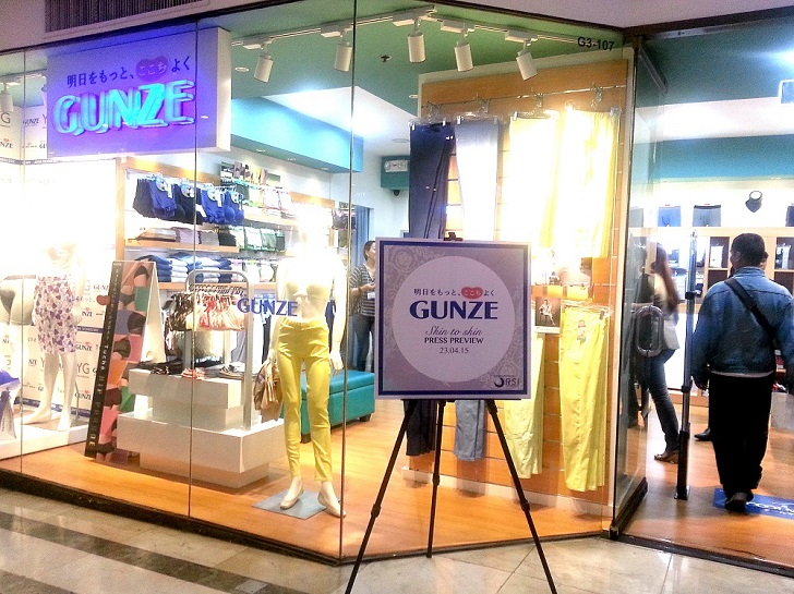 Gunze, Japan's No. 1 Innerwear is finally here in Manila!