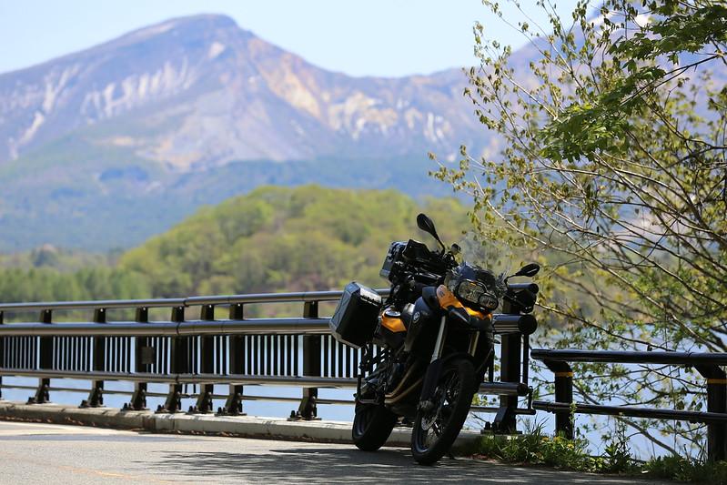 F800GS 20150511 小野川湖畔ソロキャンプツーリング