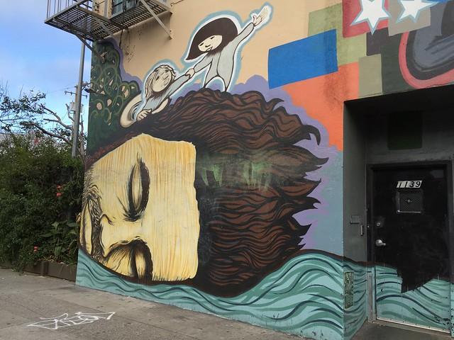 Dreaming man urban art, Soma