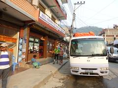 Unser Bus von Bensisahar nach Kathmandu