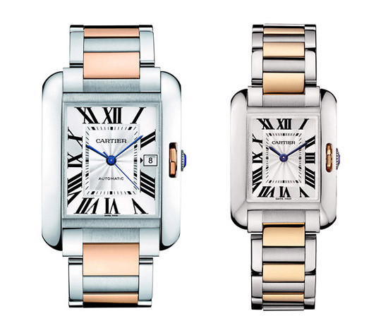 Cartier Tank Anglaise tables series