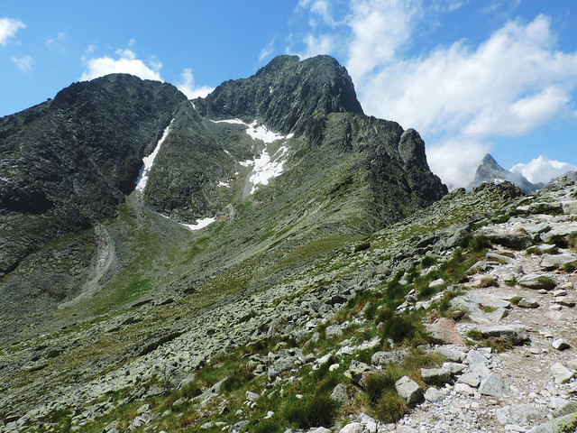 Hiking to Velka Svistovka pass, High Tatras, Slovakia