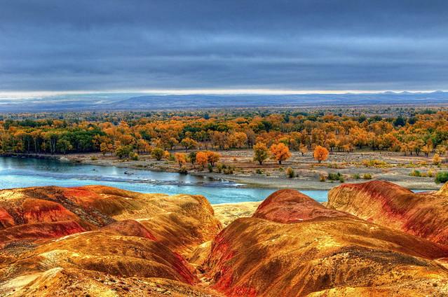 Danxia landform in Xinjiang (HDR)