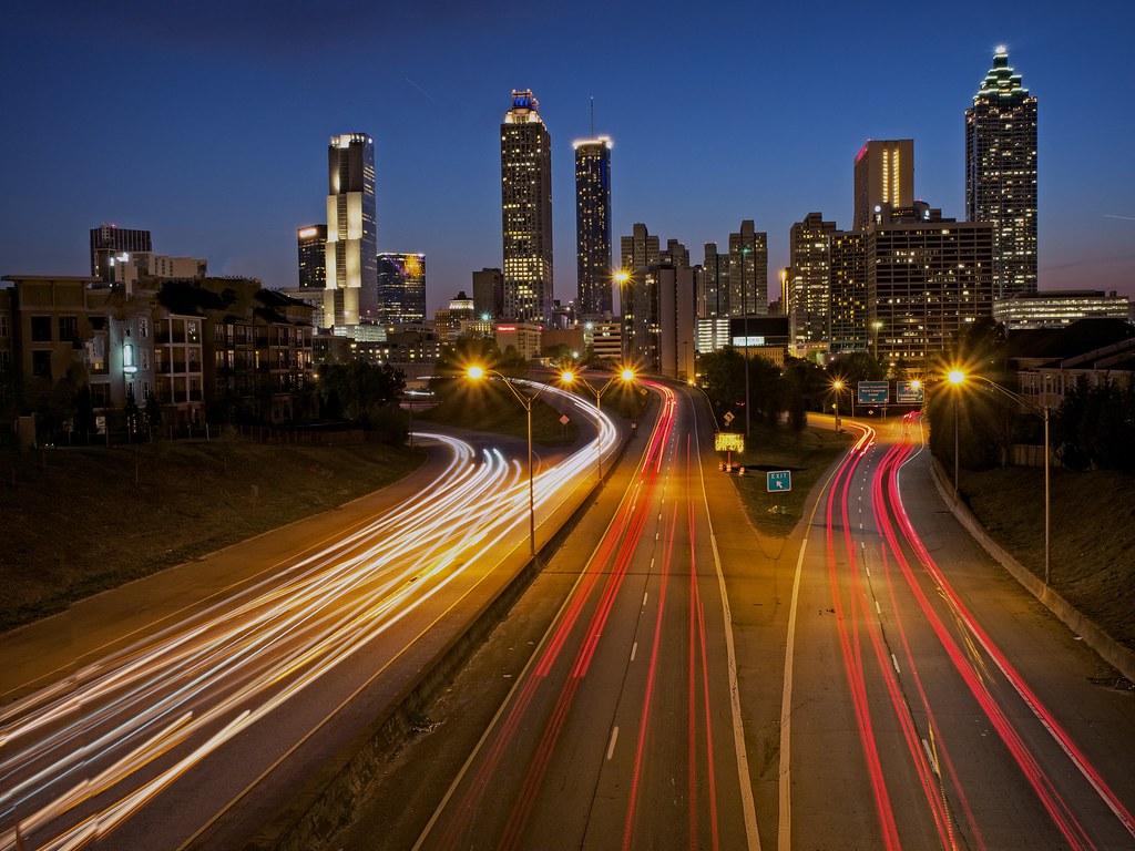 Atlanta Skyline This Work Is Licensed Under A Creative