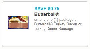 image regarding Butterball Coupons Turkey Printable called 0.54 Butterball Turkey Bacon at Walgreens + Added