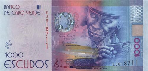 Cape Verde's 1000 Escudos note