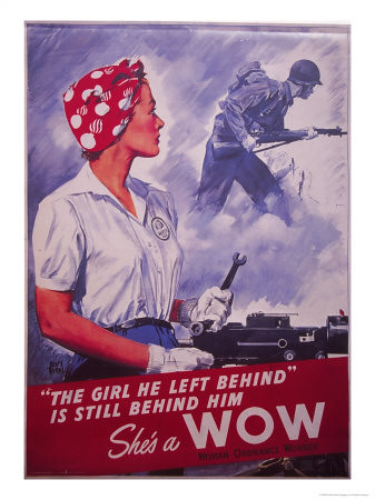 World War II Poster - She's a WOW