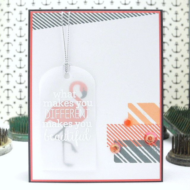 Be Different by Jennifer Ingle #justjingle #bazzillbasics #reverseconfetti #clearlybesotted #cards #diy