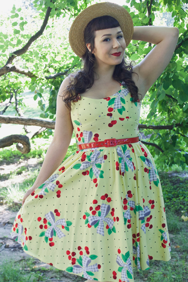 bernie dexter cherries dress