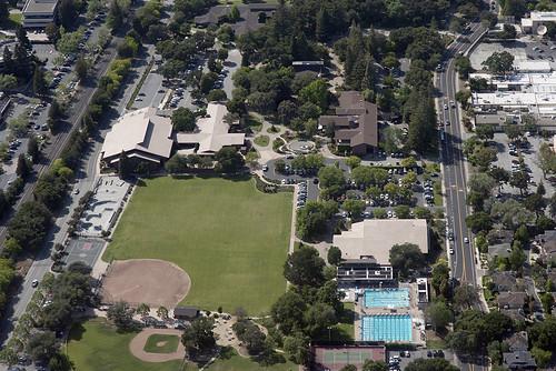Aerial View Of Burgess Park Menlo Park California Flickr