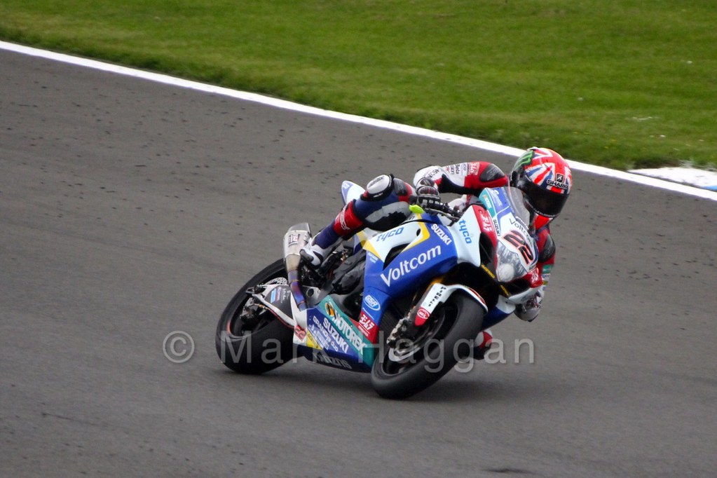 Alex Lowes in World Superbikes Race 2 at Donington, May 2015
