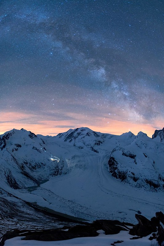 Milkyway over Monte Rosa hut - Zermatt