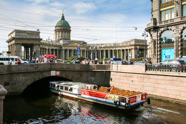 Kazan Cathedral and the canal, Saint Petersburg, Russia サンクトペテルブルク、カザン聖堂と運河