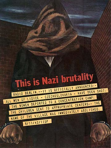 World War II Poster - Nazi Brutality
