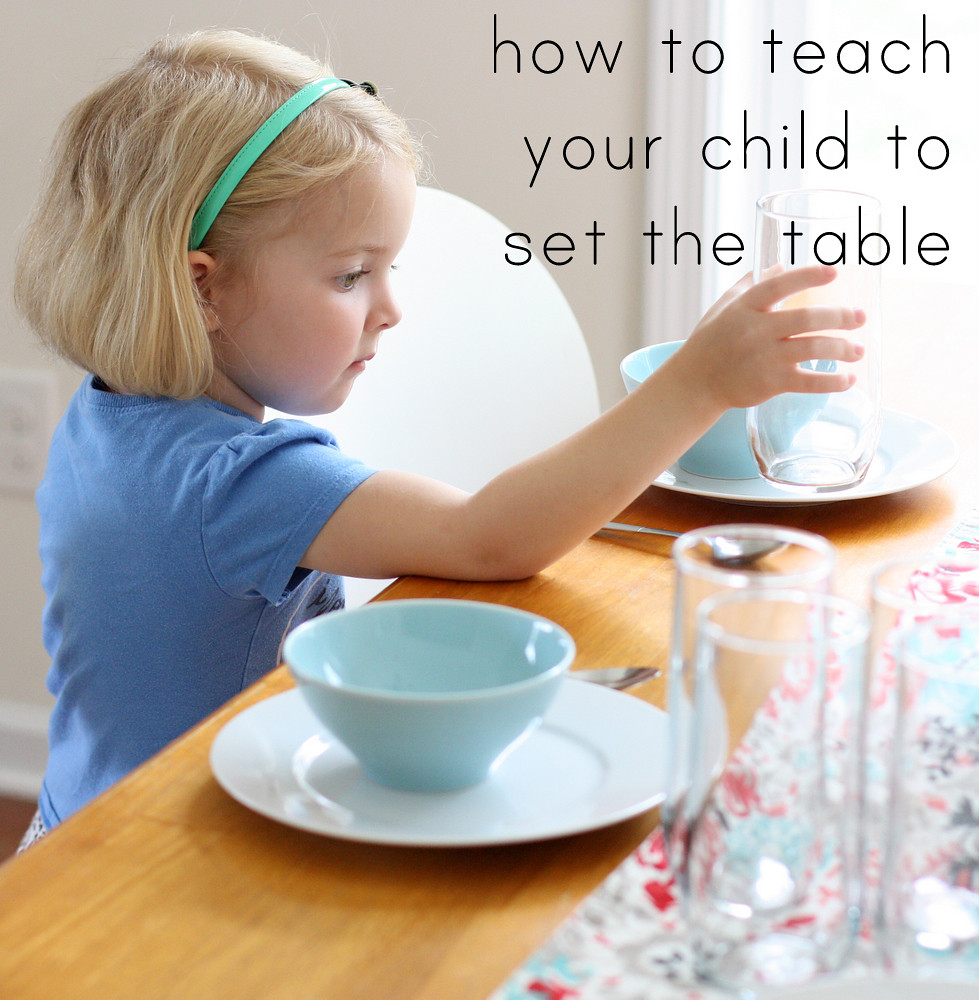 A fun and easy way to teach your child how to set the table correctly. So cute!