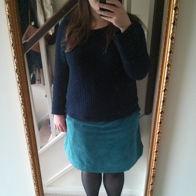 #mmm15 day 22 - corduroy NL6154 skirt & the jumper N got me for Christmas