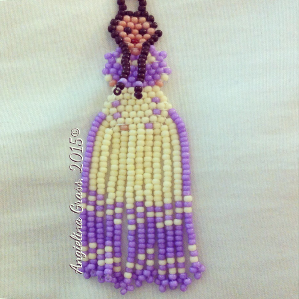 Choctaw Beads: Beaded Choctaw Dress Earrings