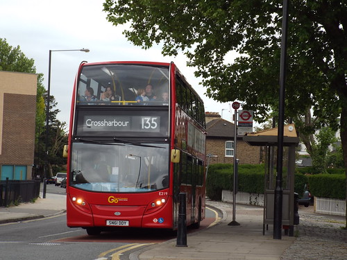 Go-Ahead London (Docklands Buses) E219, SN61DDY at Mudchute on route 135 to Crossharbour