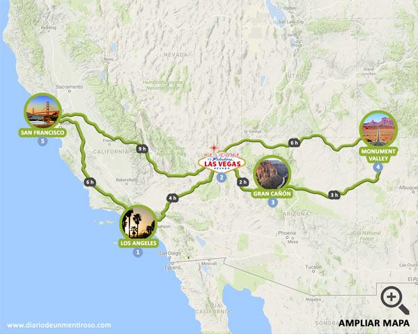 Ruta de 7 días por la Costa Oeste