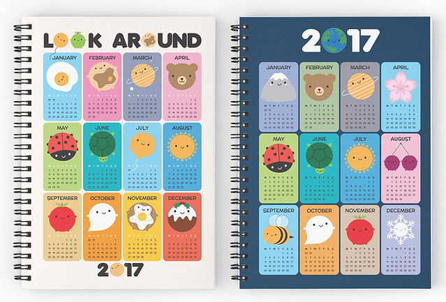 2017 calendar spiral notebooks at Redbubble
