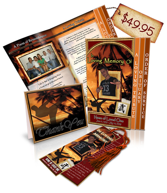Martial Arts 01 Regular Obituary Template Package 2 ...