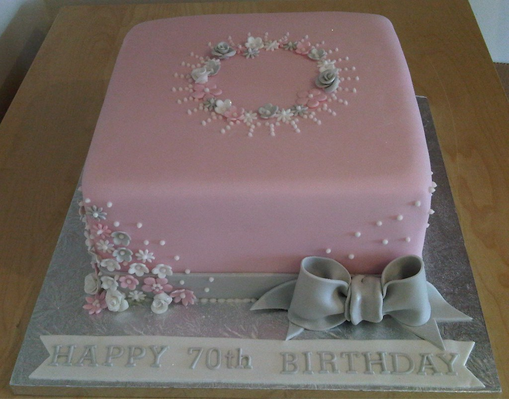 Birthday Cake Designs In Square : 70th Birthday Cake This was an 8