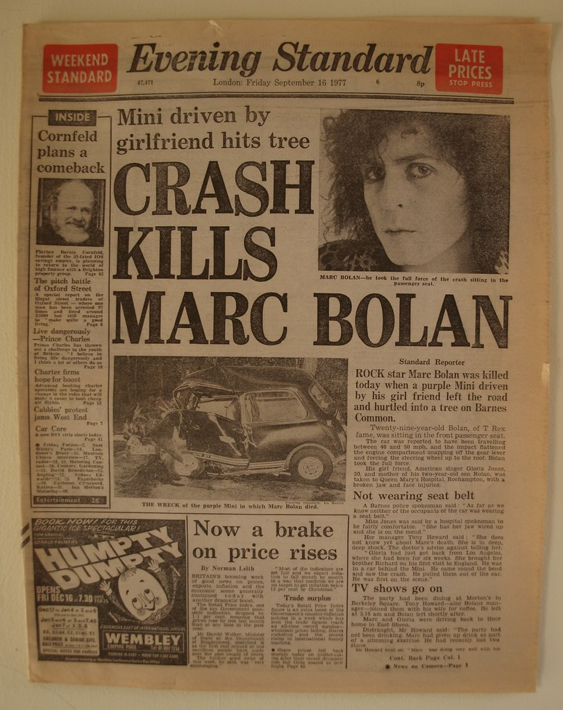 Car Crash Newspaper Articles