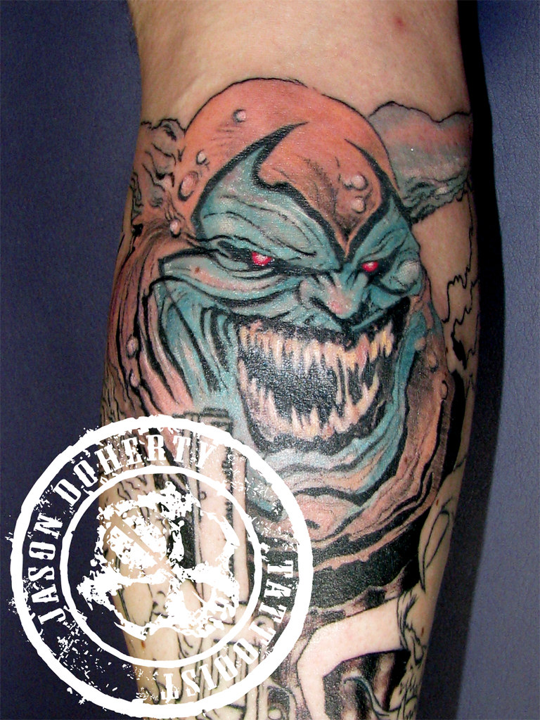 steve 39 s tattoo of spawn character steve 39 s tattoo of